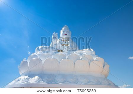 Big Buddha Guanyin in Thailand in nort of Thailand