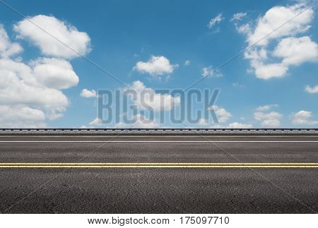 Roadside With Blue Sky Background