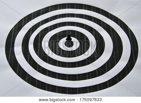 black marker boards stab on roll target