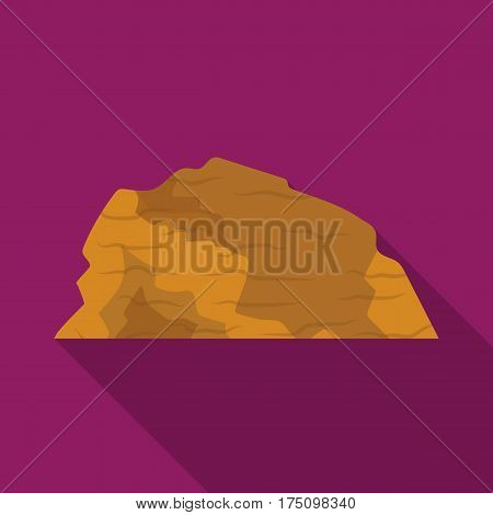 Sandy ceremony in wild west .Mountains of sand.Mountains in the desert.Different mountains single icon in flat style vector symbol stock web illustration.