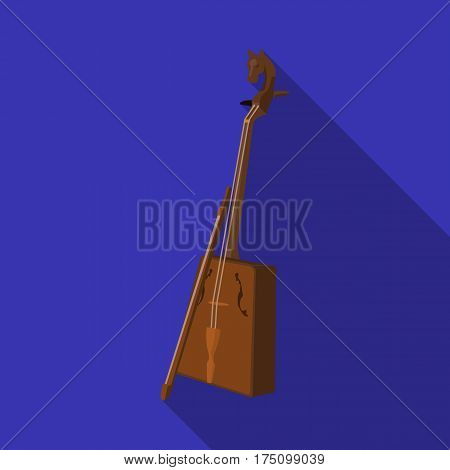 Wooden musical instruments of Mongol .National music of the Mongolian.Mongolia single icon in flat style vector symbol stock web illustration.