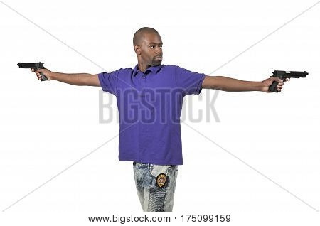 Police Detective With Gun