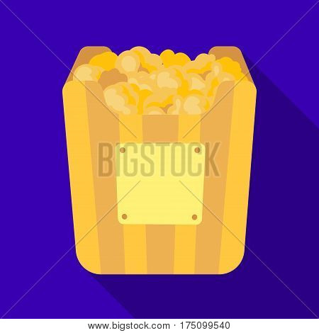 Cup in the form of Golden popcorn.The prize of spectator sympathies.Movie awards single icon in flat style vector symbol stock web illustration.