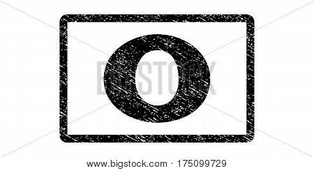 0 watermark stamp. Text tag inside rounded rectangle frame with grunge design style. Rubber seal stamp with scratched texture. Vector black ink imprint on a white background.