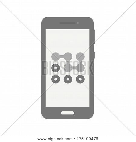 Pattern, mobile, unlock icon vector image. Can also be used for smartphone. Suitable for mobile apps, web apps and print media.