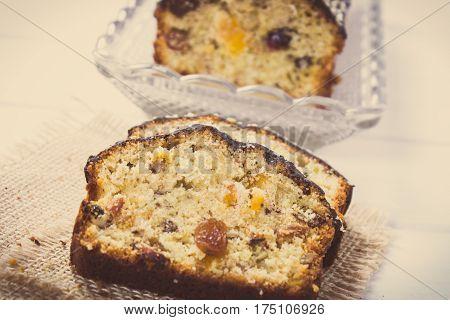 Vintage Photo, Fresh Baked Fruitcake On Boards