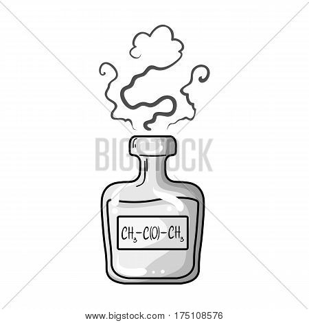 A vial of green potion.Medicines for diabetics.Diabetes single icon in monochrome style vector symbol stock web illustration.