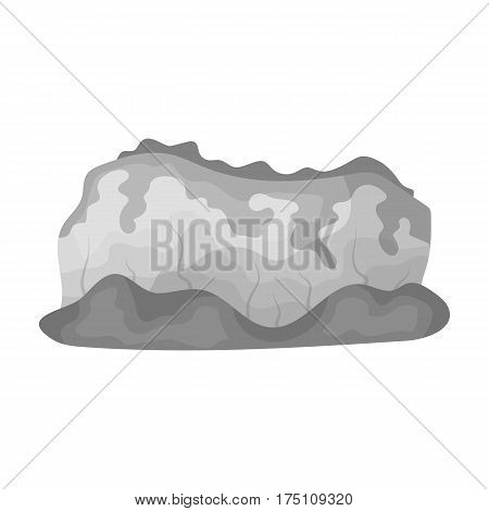 High green mountains.Mountains covered with forests.Different mountains single icon in monochrome style vector symbol stock web illustration.