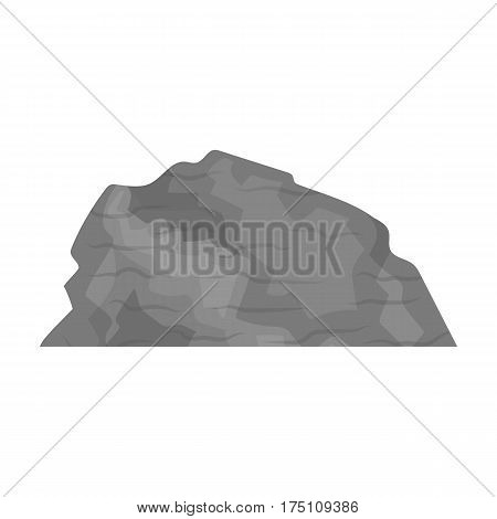 Sandy ceremony in wild west .Mountains of sand.Mountains in the desert.Different mountains single icon in monochrome style vector symbol stock web illustration.