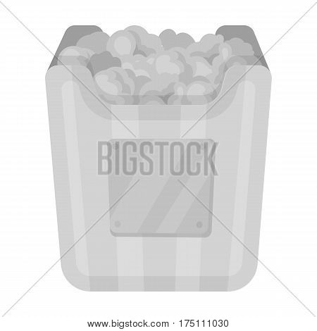 Cup in the form of Golden popcorn.The prize of spectator sympathies.Movie awards single icon in monochrome style vector symbol stock web illustration.