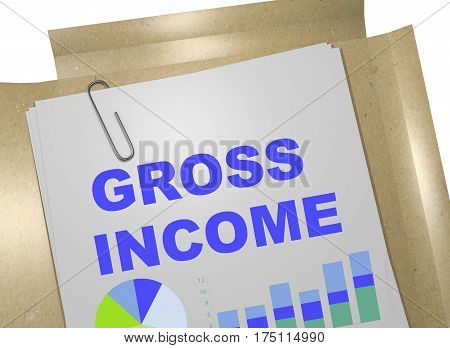 Gross Income - Business Concept