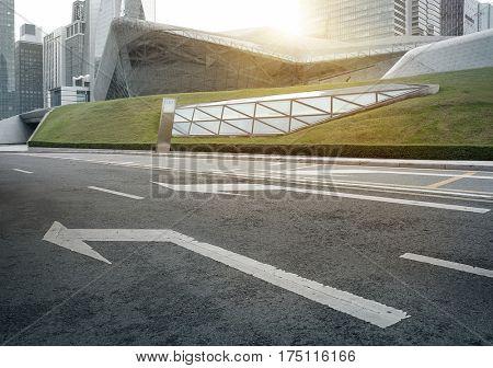 The modern city landscape