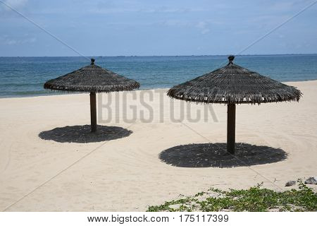 palapa beach grass umbrella