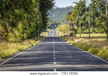 An image of a winding road in New Zealand