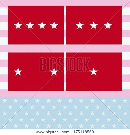 Fine Vector Officers Flags Army flag Set