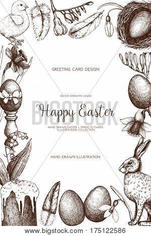 . Happy Easter Day Vintage Design