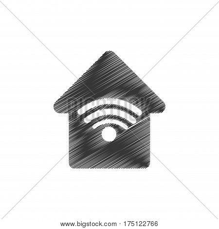 home web wifi connection vector illustration eps 10