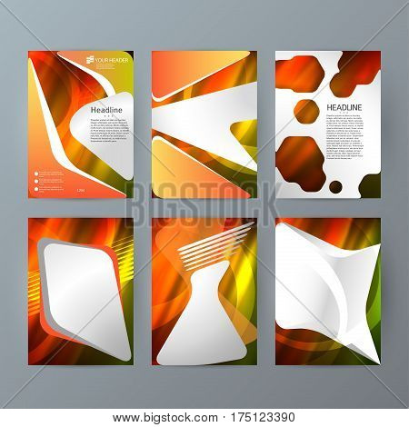 Set Templates Vertical Brochure Mockup Hot Glow Effect03