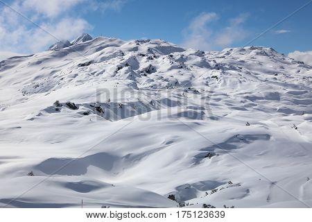 Muttjöchle Mountain in Vorarlberg. Klostertal Alps. Austria