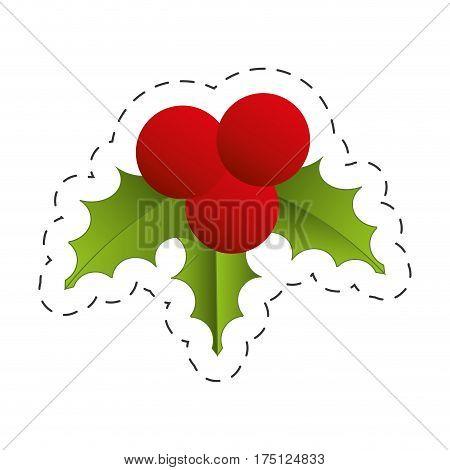 christmas decoration leave design vector illustration eps 10