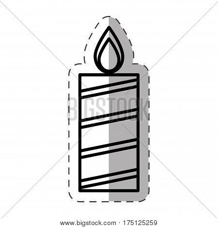 candle christmas decoration cut line vector illustration eps 10