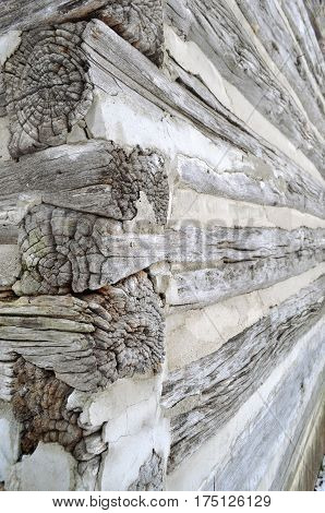 Weathered wood beams on a historic barn wooden texture