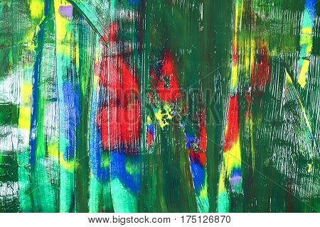 Abstract colours in red, green, yellow and blue