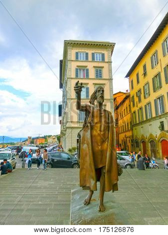 Florence, Italy - May 01, 2014: The bronze statue dedicated to the fighters for the independence of Italy