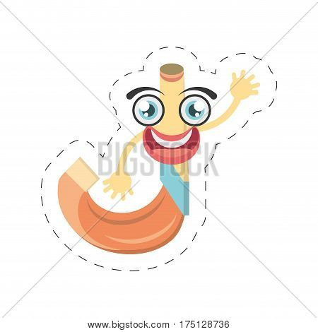 cartoon horn party celebration cut line vector illustration eps 10