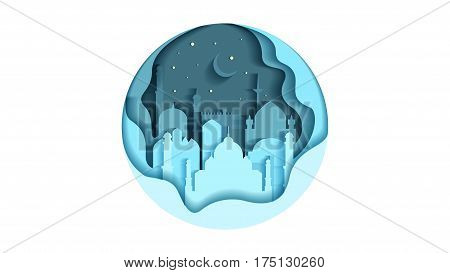 Stock vector illustration background circle icon flat style architecture buildings monuments town city country travel printed materials, cover, India, monuments, Taj Mahal, New Delhi, Culture, Mumbai