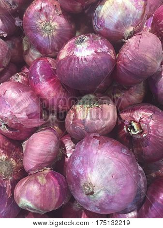 close up of shallots food background (onions, shallots, onion)
