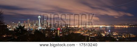 Seattle Skyline And Puget Sound Panorama