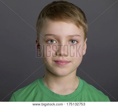 Close-up portrait of little boy