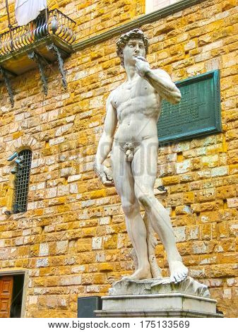 Copy Michelangelo's sculpture of David in Florence at Italy