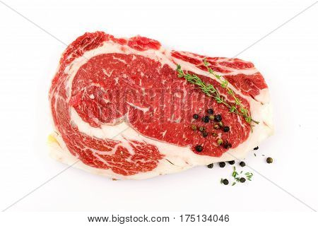 Slide rib eye beef preparation for cooking