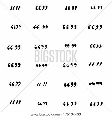 Set of quotation marks. Vector illistration, EPS 10