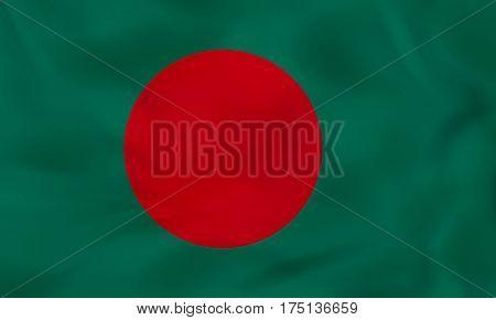 Bangladesh Waving Flag. Bangladesh National Flag Background Texture.