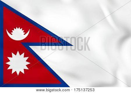 Nepal Waving Flag. Nepal National Flag Background Texture.
