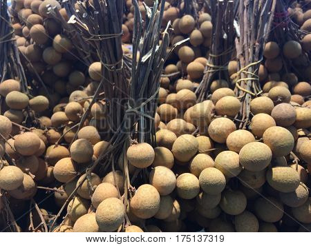 longan fruit in abundance. longan fruit from farmers to be marketed