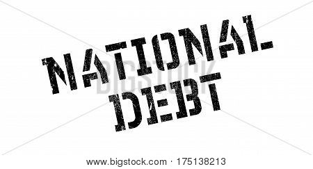 National Debt rubber stamp. Grunge design with dust scratches. Effects can be easily removed for a clean, crisp look. Color is easily changed.