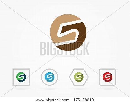 S Letter Pixel Multiply Colorful Logo Design Template