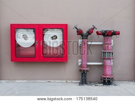 Water valve Fire with Fire hose cabinet