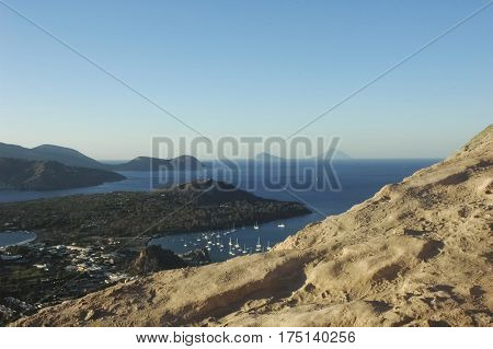 The breathtaking scenery of the Aeolian Islands