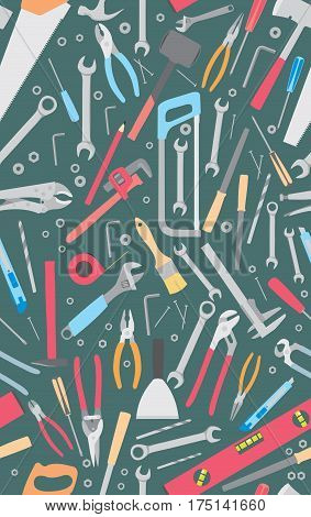 Working tools. Repair and construction tools collection - do it yourself project