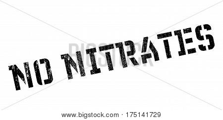 No Nitrates rubber stamp. Grunge design with dust scratches. Effects can be easily removed for a clean, crisp look. Color is easily changed.