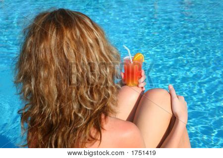 Woman Cocktail Pool