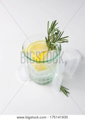Lemon, Rosemary Fizz