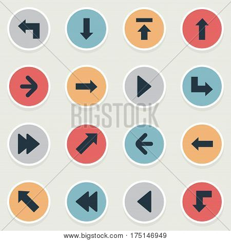 Vector Illustration Set Of Simple Arrows Icons. Elements Advanced, Left Direction, Reduction And Other Synonyms Arrow, Forward And Upload.