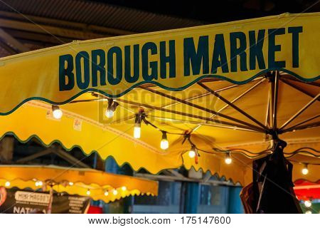 Sign Of Borough Market