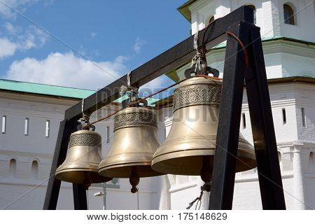 Church bells in the New Jerusalem Monastery in Russia